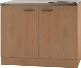 Keukenblok Klassiek 50 Beuken met RVS aanrecht 100 cm x 50 cm OPTI-68