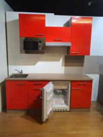 Showmodel keukenblok Rood glans 200cm