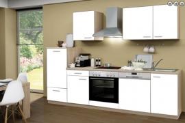 Keuken 280cm incl alle apparatuur o.a. vaatwasser wit CHI-01260