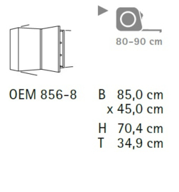 Komfort hoekwandkast OEM856-8