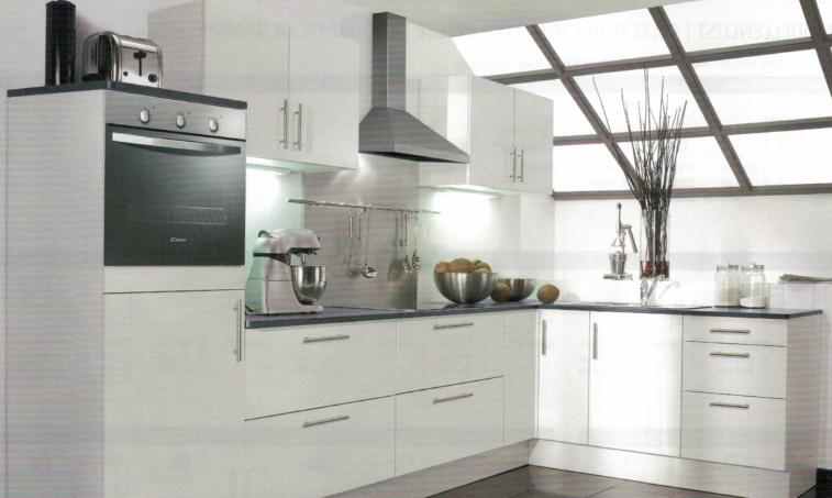 L-Keuken Mat Wit bengt 350x190 cm Incl. Inbouwapparatuur HRG-7864