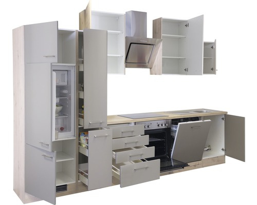 Keuken Sahara Beige 310 cm incl. Inbouwapparatuur HRG-8374