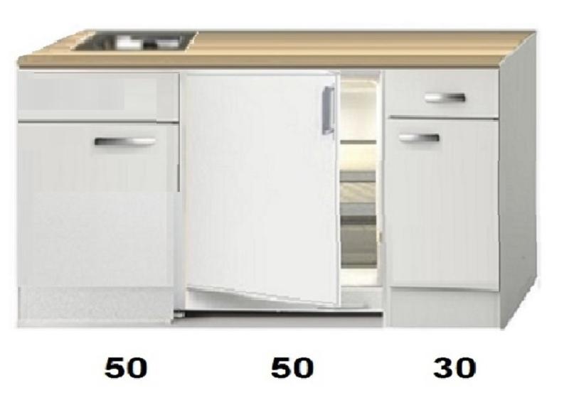 Kitchenette  130cm  zonder wandkasten HRG-89