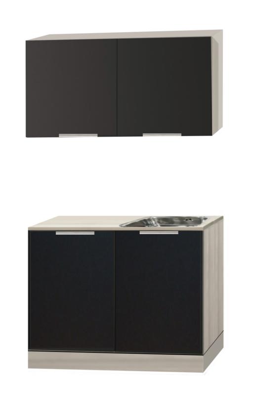 Keukenblok 100cm antraciet glans Udin op stelpoten RAI-333