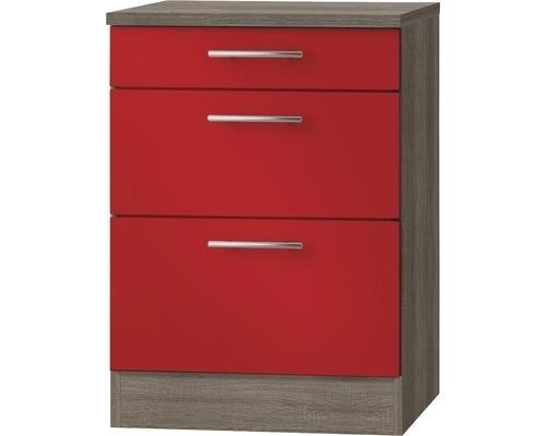 Kabinet Imola signaal rood satijn (BxHxD) 60,0x84,8x60,0 cm HRG-197