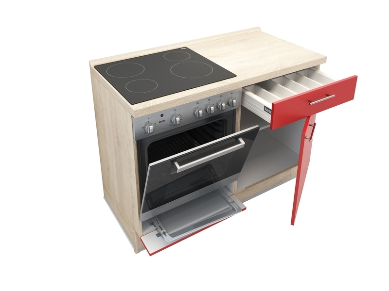 2 In 1 Keukenblok 120 Cm X 60 Cm Incl Oven Kookplaat