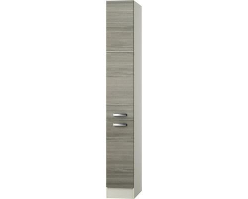 Apothekerskast Vigo bruin-grijs (BxHxD) 30 x 206 x 58 cm RAI-796