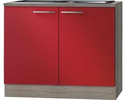 keukenblok Imola Rood (BxHxD) 100,0x84,8x60,0 cm HRG-199