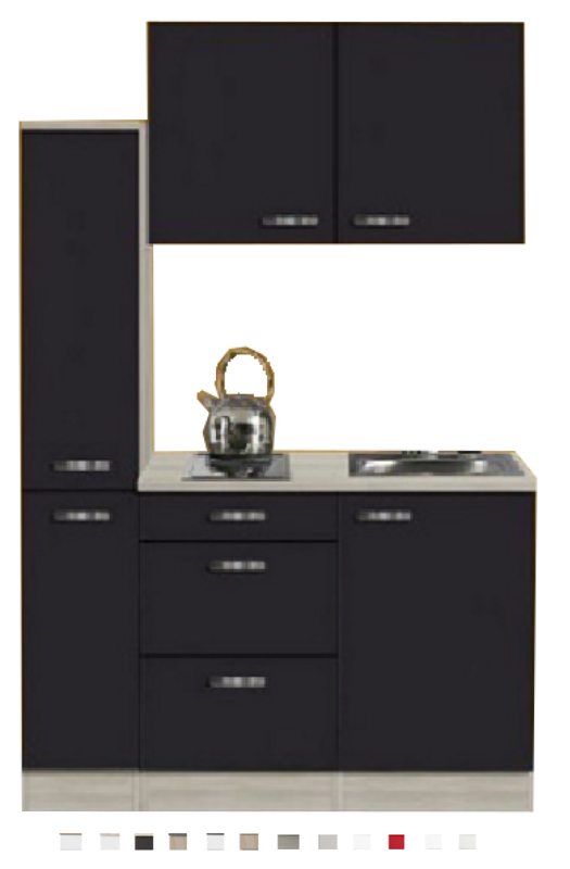 Kitchenette Faro met apothekerskast, 130 x 60 cm POTTO-640