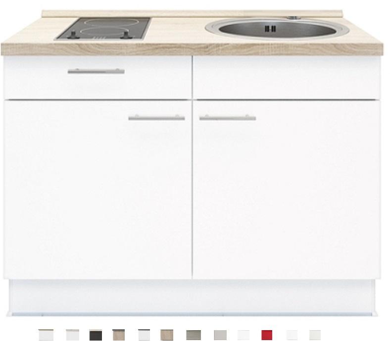 Keukenblok 120 cm x 60 cm Incl. kookplaat + spoelbak RAI-499