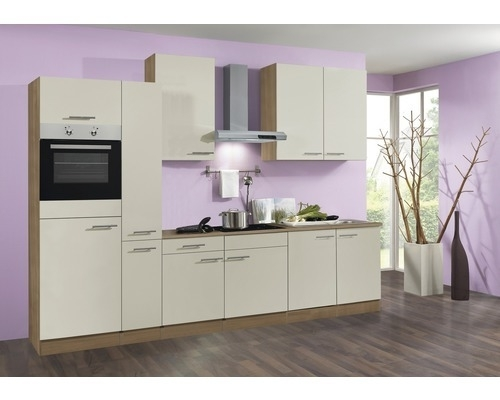 Keuken Bilbao 300 cm créme Incl. Inbouwapparatuur OPTI-21900