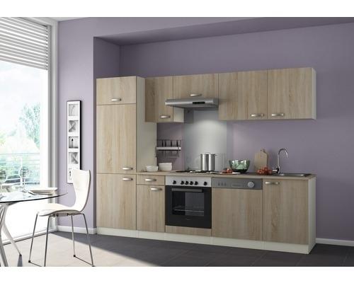 Uitgelezene Keuken Padua 270cm licht eiken ruw gezaagd Incl. Inbouwapparatuur AU-61