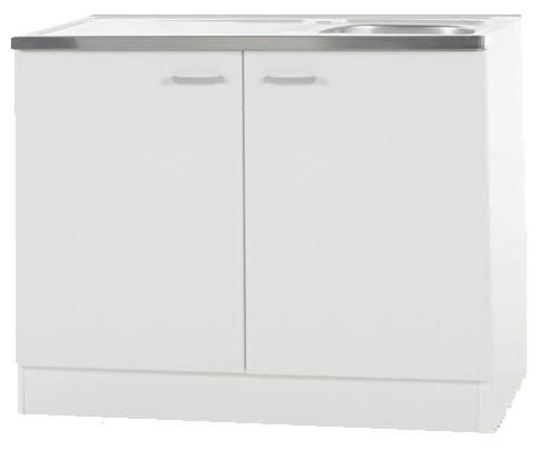 Keukenblok met RVS aanrecht 100cm x 50cm RAI-69