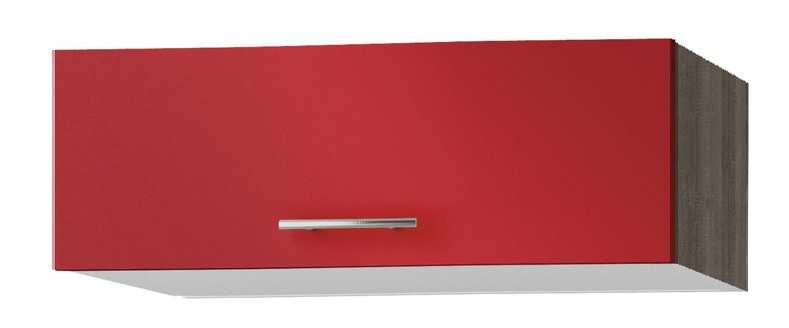 Wandkast met klapdeuren Imola signaal rood satijn (BxHxD) 100,0x34.5x34,6 cm OPTI-52