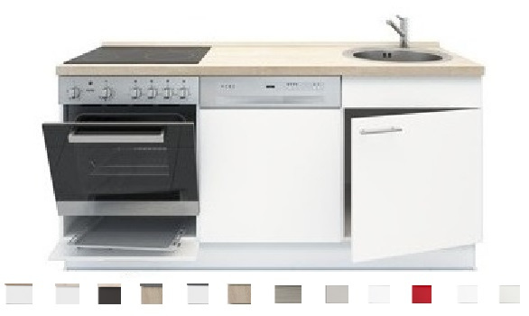 4-in-1 Kitchenette + oven + kookplaat + vaatwasser + bergruimte 180cm RAI-1099
