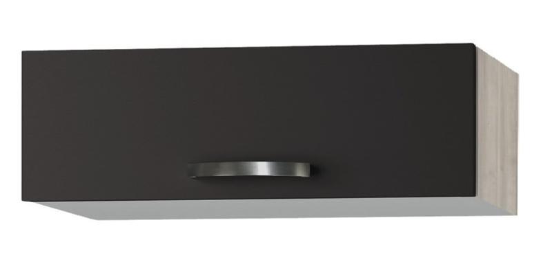 wandkast Faro Antraciet met een klep deur ((BxHxT) 100,0x35,2x34,6 cm OK135-9-20