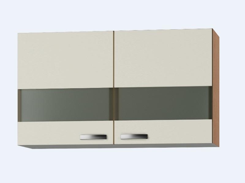 Bovenkast Klassiek 60 Cream met glas 100cm x 32 cm OPTI-36