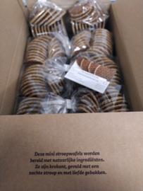 Doos 10 pakjes van 15 mini stroopwafels