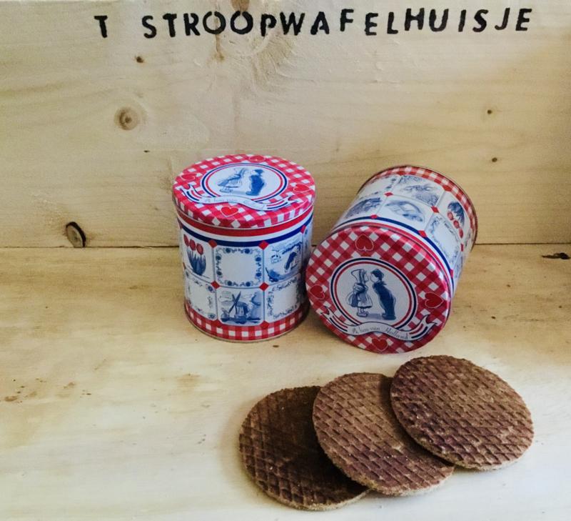 Cadeaublik; Ik hou van Holland incl. pakje stroopwafels
