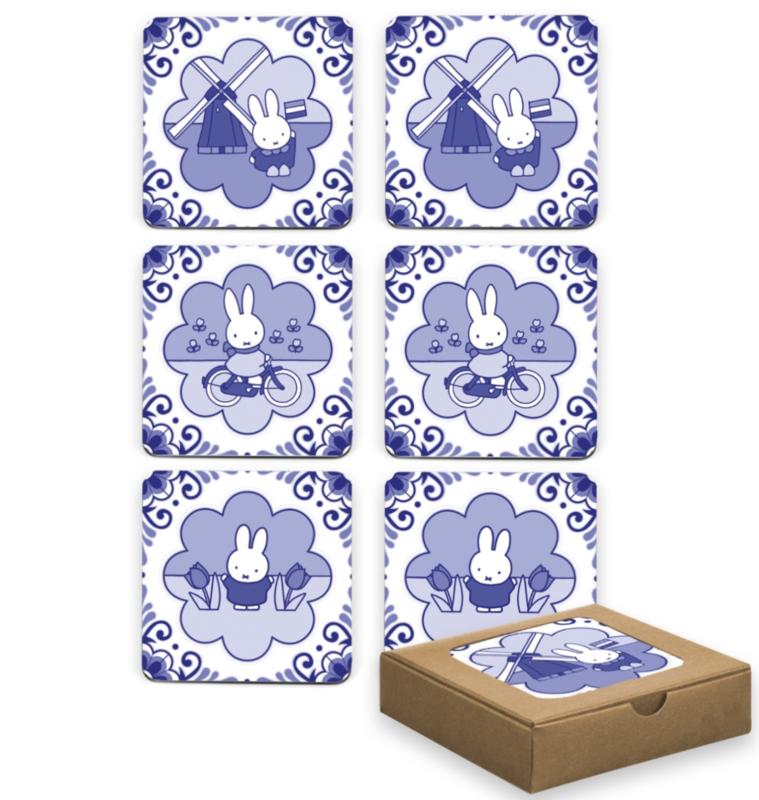 Coasters | onderzetters Nijntje Delfsblauw