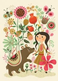 Helen Dardik kinderkamer poster Wild Dream Bear 50 x 70 cm