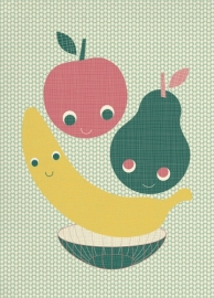 Miss Honeybird Ansichtkaart Be Well Fruit