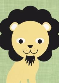 Miss Honeybird Ansichtkaart Leeuw