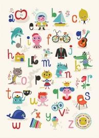 Helen Dardik kinderkamer poster ABC 50 x 70 cm NL