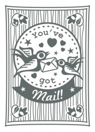 Miss Honeybird Ansichtkaart You've got Mail