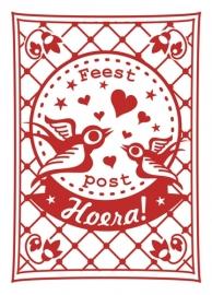 Miss Honeybird Ansichtkaart Hoera!