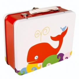 Blafre lunchkoffertje rode walvis