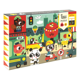 Petit Monkey puzzel In the city 4 jr+ / 48 stks