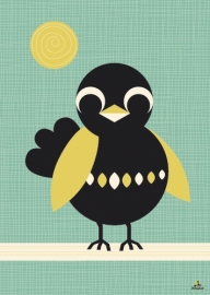 Miss Honeybird kinderkamer poster A2 Vogel