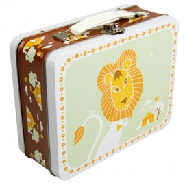 Blafre lunchkoffertje Circus Leeuw