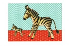 Froy & Dind ansichtkaart Zebra