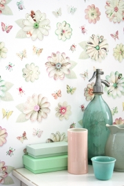 Studio Ditte Behang Bloemen vlinders en kevertjes