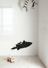 KEK Amsterdam Schoolbordsticker Raket