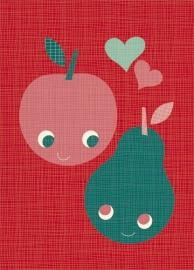 Miss Honeybird Ansichtkaart Love Fruit