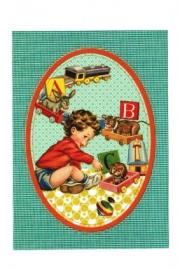 Froy & Dind ansichtkaart vintage speelgoed
