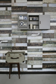 Studio Ditte Behang Sloophout Zwart/Wit