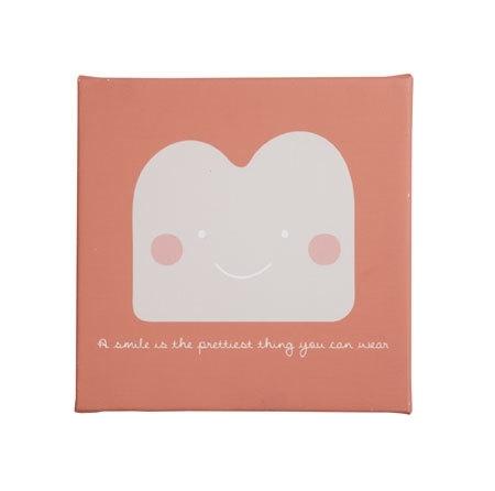 Bibelotte Little Schilderij Smile koraal