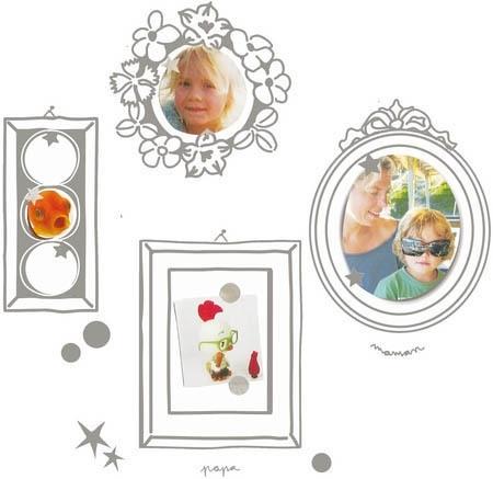 Mimi 'Lou muursticker fotolijstjes