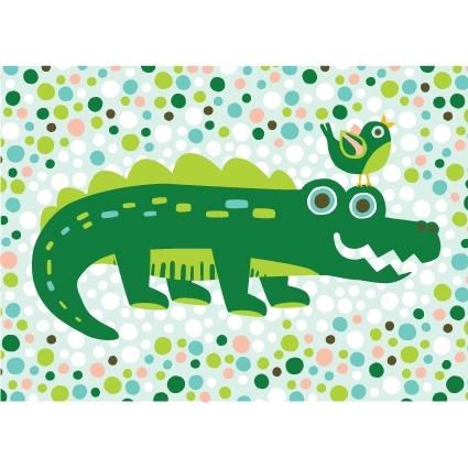 Hikje Ansichtkaart Krokodil