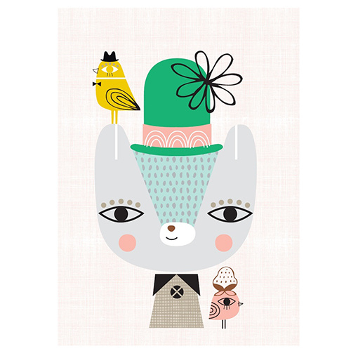 Petit Monkey kinderkamer poster Thierry the Bear 29,7 x 42 cm