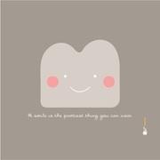 Bibelotte Little Schilderij Smile taupe
