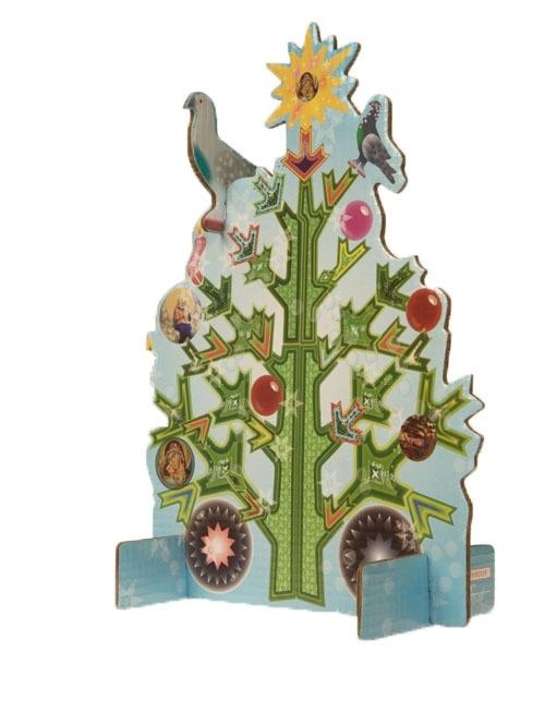 Studio ROOF / Kidsonroof Totem Pop Out kaart Kerstboom