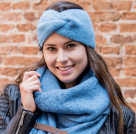 HAARBAND 'PIP' | JEANS BLAUW
