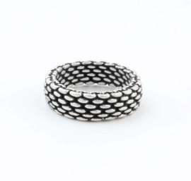 METALEN RING 'SANDY' | OUD ZILVER