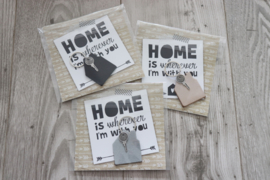 SLEUTELHANGER 'HUIS' | HOME IS..
