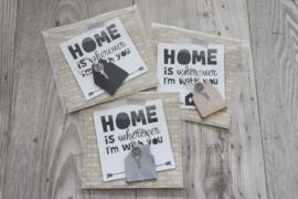 SLEUTELHANGER 'HUIS' | HOME IS..